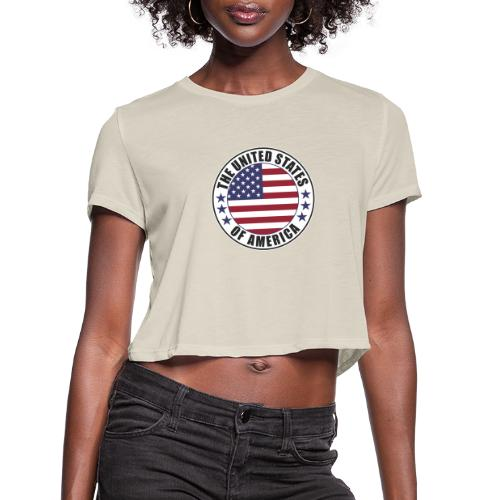 The United States of America - USA - Women's Cropped T-Shirt