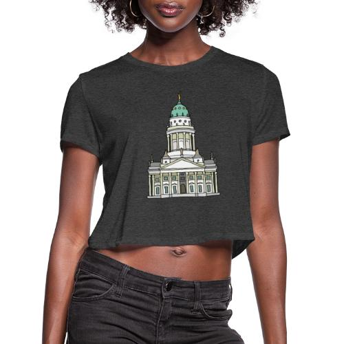 French Cathedral Berlin - Women's Cropped T-Shirt