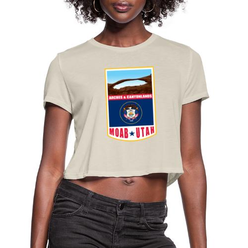 Utah - Moab, Arches & Canyonlands - Women's Cropped T-Shirt