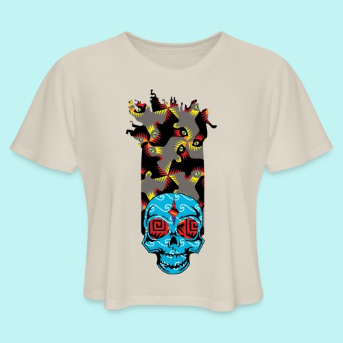 90s KID SKULLY - Women's Cropped T-Shirt