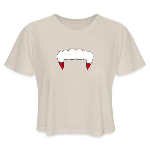 Vampire Fangs - Women's Cropped T-Shirt