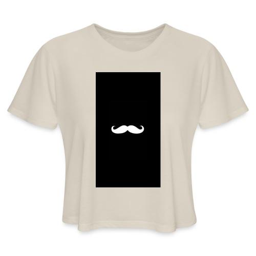 Mustache - Women's Cropped T-Shirt
