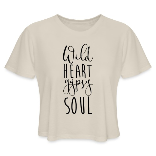 Cosmos 'Wild Heart Gypsy Sould' - Women's Cropped T-Shirt