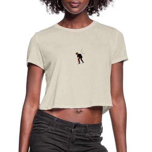 Apollo Skate (style A) - Women's Cropped T-Shirt
