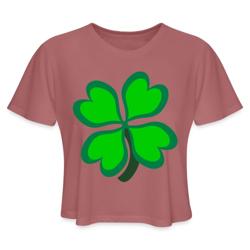 4 leaf clover - Women's Cropped T-Shirt