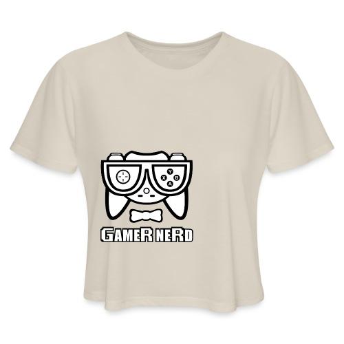 Nerds - Gamer Nerd SD - Women's Cropped T-Shirt