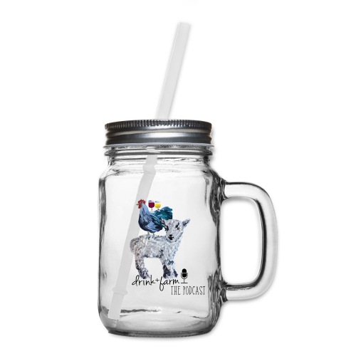 Drink & Farm Logo - Mason Jar