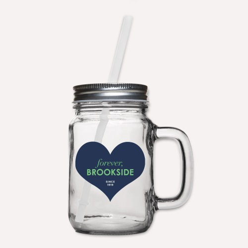 Forever Brookside Navy with Mint - Mason Jar