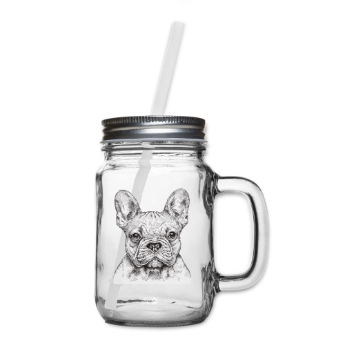 French Bulldog - Mason Jar