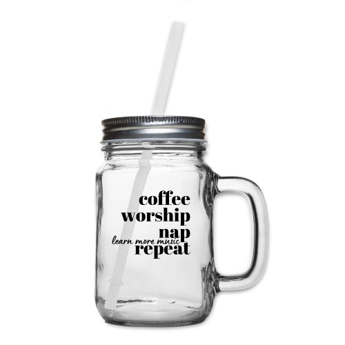 Coffee Worship Nap Tee - Mason Jar