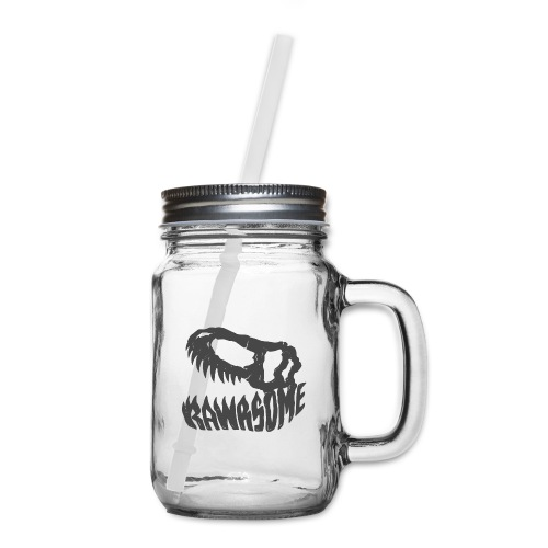 RAWRsome T Rex Skull by Beanie Draws - Mason Jar