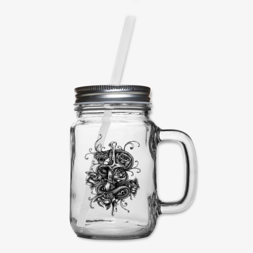 Dagger And Snake - Mason Jar