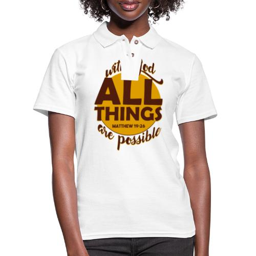 With God, all things are possible - Women's Pique Polo Shirt