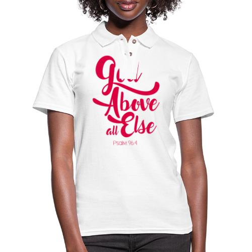 Psalm 96:4 God above all else - Women's Pique Polo Shirt