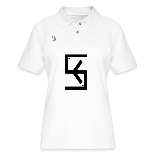 Soft Kore Logo Black - Women's Pique Polo Shirt