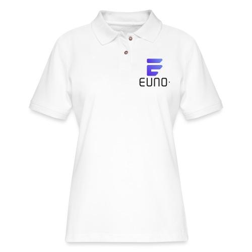 EUNO LOGO POTRAIT BLACK FONT - Women's Pique Polo Shirt
