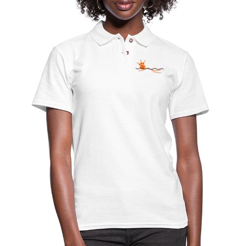 Winky Swimming King - Women's Pique Polo Shirt