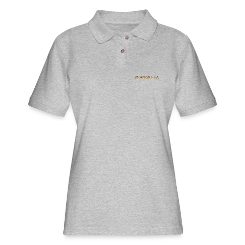 Shangri La gold blue - Women's Pique Polo Shirt