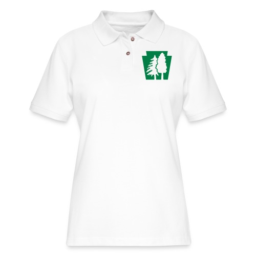 PA Keystone w/trees - Women's Pique Polo Shirt
