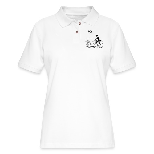 Bicycle Bicycling Picasso - Women's Pique Polo Shirt