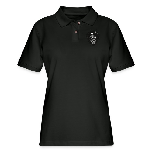 Keep calm and rock on - Women's Pique Polo Shirt