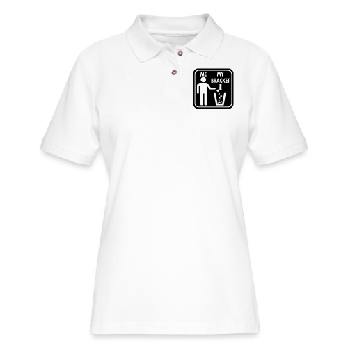 March Madness Bracket Vector - Women's Pique Polo Shirt