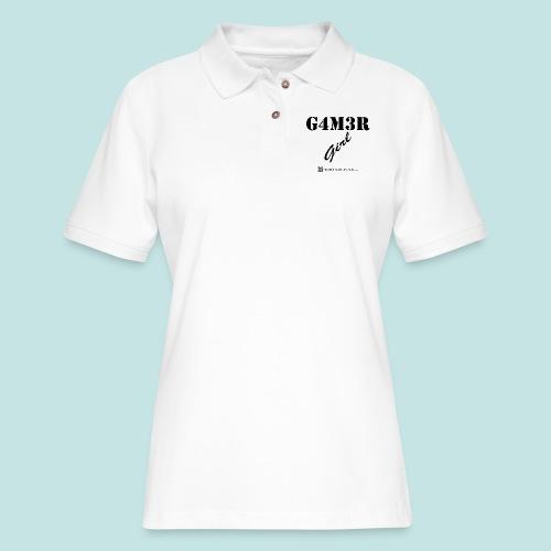 Gamer Girl (black) - Women's Pique Polo Shirt
