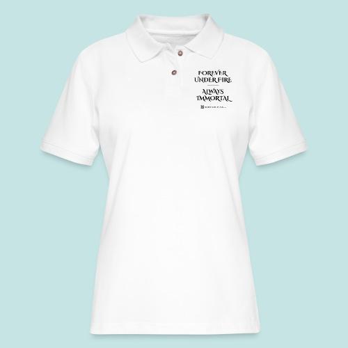 Always Immortal (black) - Women's Pique Polo Shirt