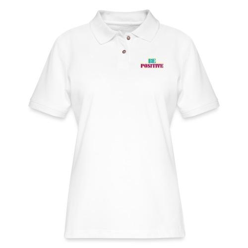 BE positive - Women's Pique Polo Shirt