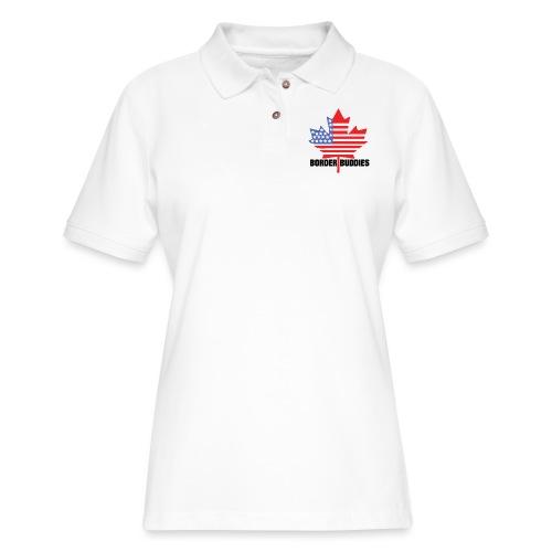 Canada USA - Border Buddies - Women's Pique Polo Shirt