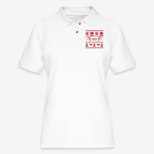 HBCU Ugly Christmas Sweat - Women's Pique Polo Shirt