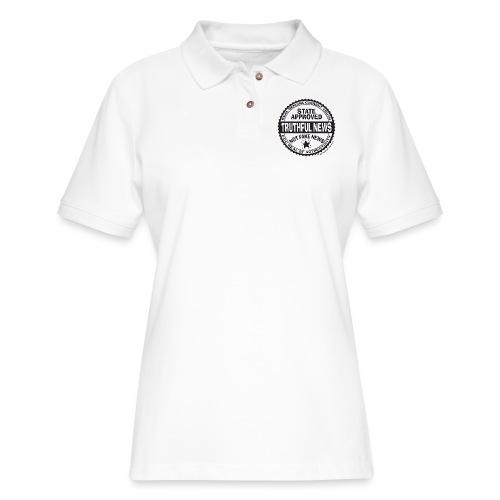 Truthful News FCC Seal - Women's Pique Polo Shirt