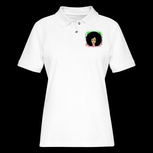 Afromatrix - Women's Pique Polo Shirt