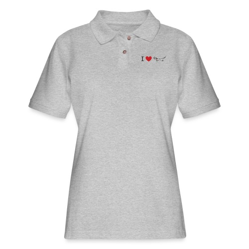 I love Dachshund - Women's Pique Polo Shirt