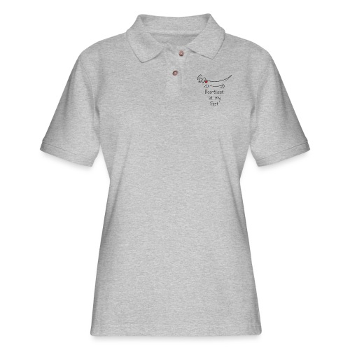 Heartbeat at my Feet - Women's Pique Polo Shirt