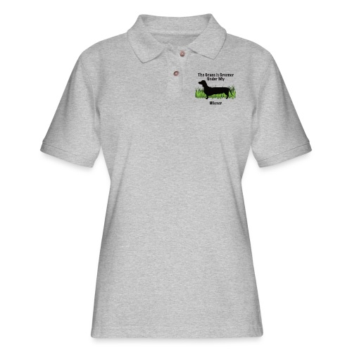 Wiener Greener Dachshund - Women's Pique Polo Shirt