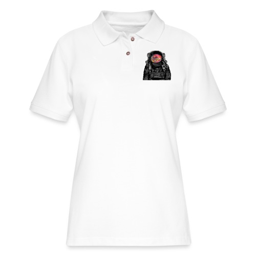 tripped out space man - Women's Pique Polo Shirt