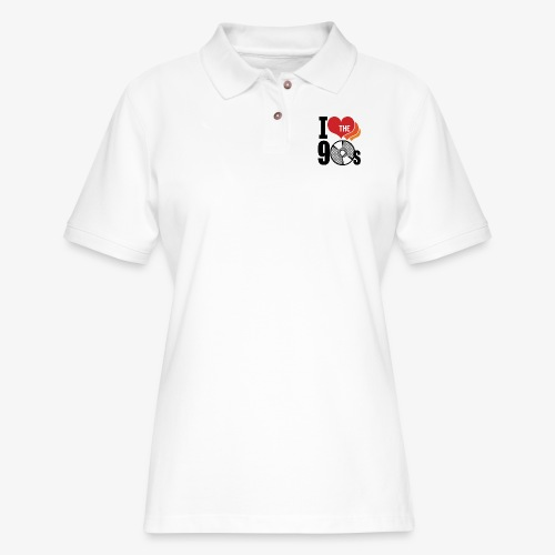 I love the 90s - Women's Pique Polo Shirt