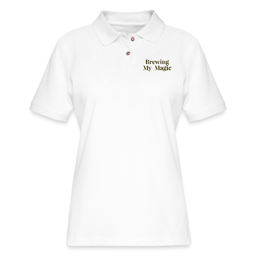 Brewing My Magic Women's Tee - Women's Pique Polo Shirt