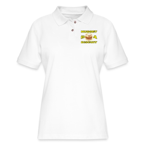 NUGGET in a BISCUIT!! - Women's Pique Polo Shirt