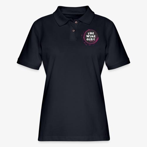 The Wine Girl - Women's Pique Polo Shirt