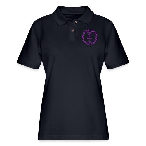 under the influence - Women's Pique Polo Shirt