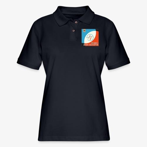 Top Shelf Nerds Cover - Women's Pique Polo Shirt