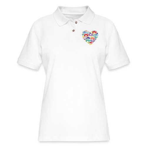 Video Game Love - Women's Pique Polo Shirt