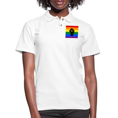 BLM Pride Rainbow Black Lives Matter - Women's Pique Polo Shirt