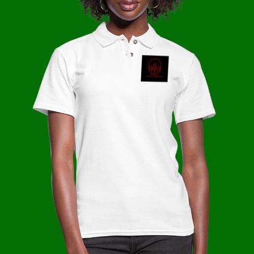 SPC Logo Black/Red - Women's Pique Polo Shirt