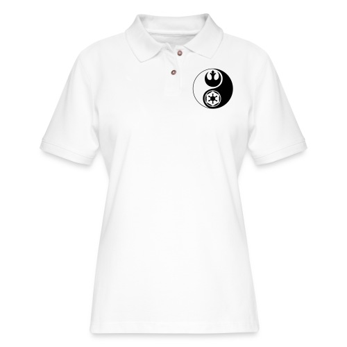 Star Wars Yin Yang 1-Color Dark - Women's Pique Polo Shirt