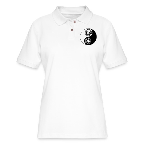 Star Wars SWTOR Yin Yang 1-Color Dark - Women's Pique Polo Shirt