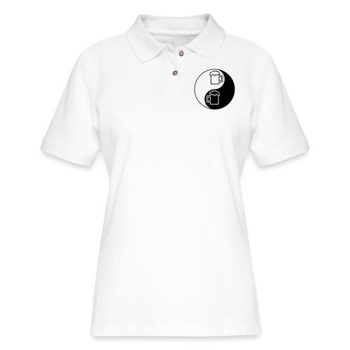 Yin Yang Beer Mugs - Women's Pique Polo Shirt