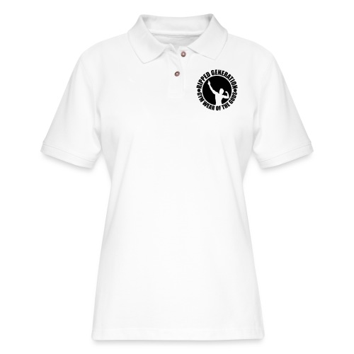 Ripped Generation Gym Wear of the Gods Badge Logo - Women's Pique Polo Shirt